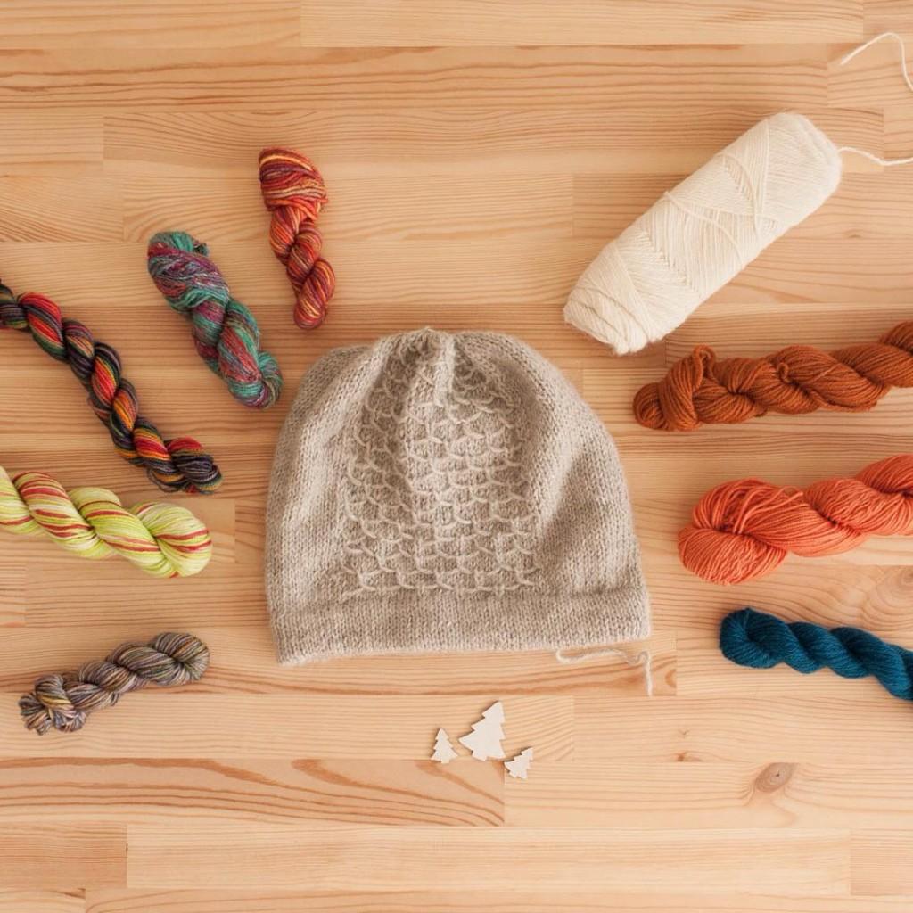 Roue des possibles pour faire un pompon amovible (Bonnet Ondine)