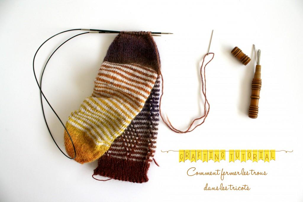 Grafting ou Kitchener stitch, comment fermer les trous dans nos tricots