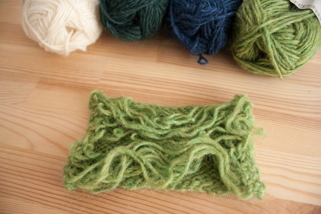 Tricoter un échantillon en rond | Pourquoi tricoter un échantillon | Dans le nid du Tisserin