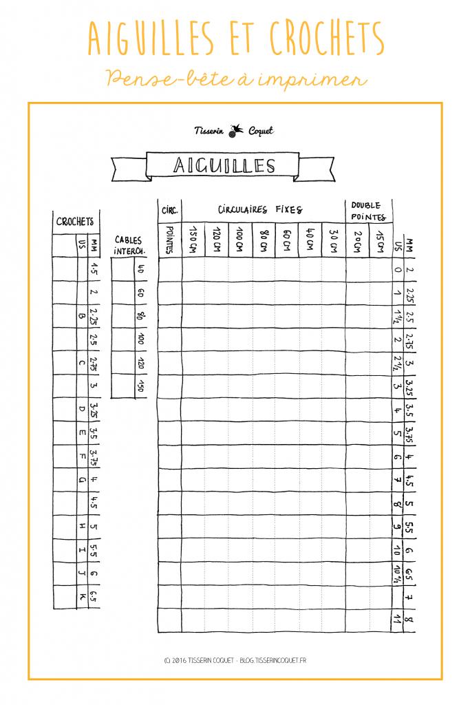 Rangement pour aiguilles interchangeables {Free Printable}