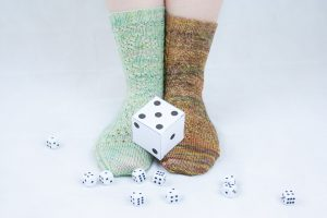 Area of effect sock pattern, available in Knotions November 2016 issue