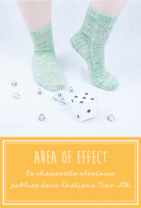 Area of Effect patron de chaussettes aléatoires