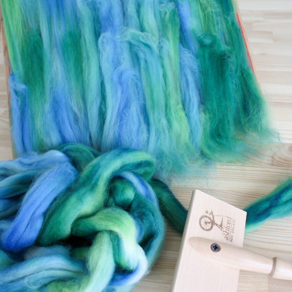 Écaille de Sirène, laine filée, handspun yarn
