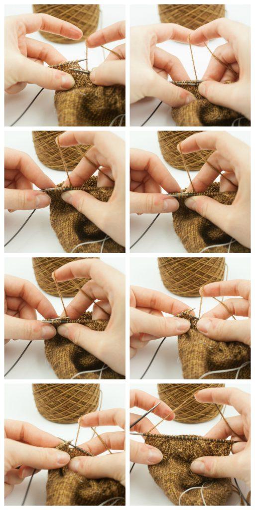 Torsade Droite- Tricoter des torsades sans aiguilles à torsades : un pas à pas en vidéo et en images - Tisserin Coquet