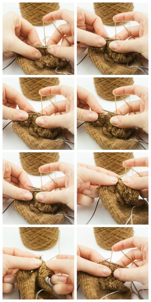 Torsade Gauche - Tricoter des torsades sans aiguilles à torsades : un pas à pas en vidéo et en images - Tisserin Coquet