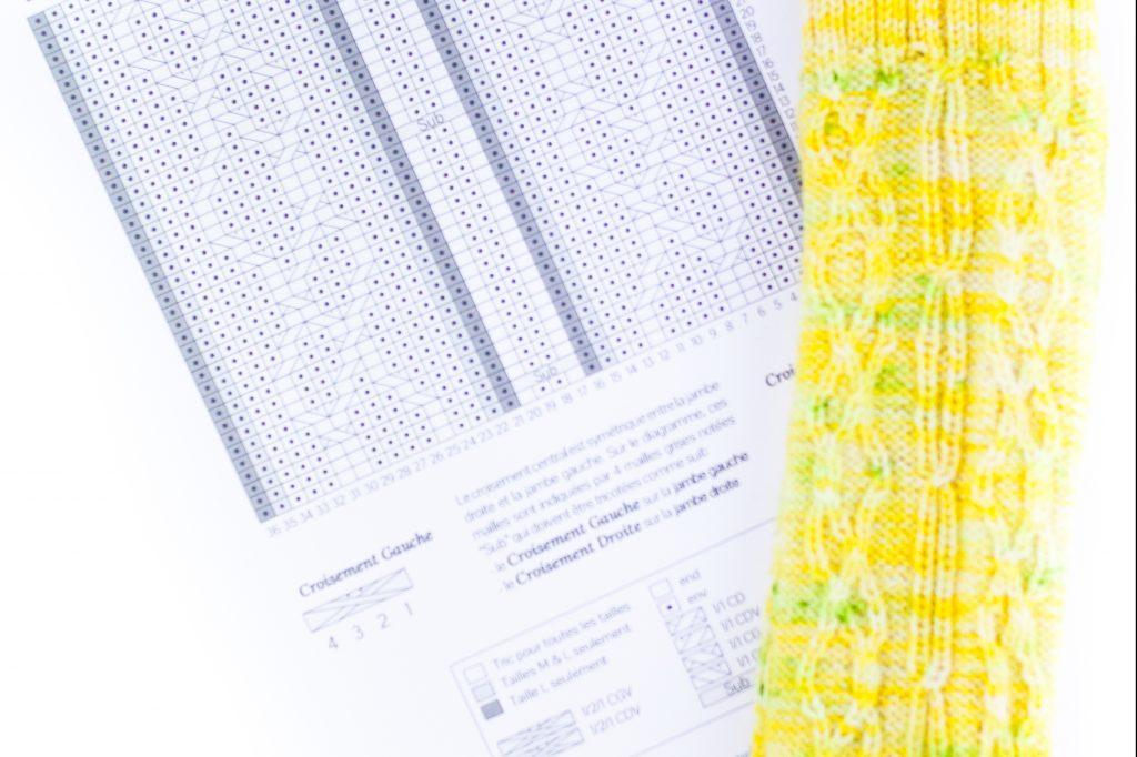 Tricoter des torsades #4 : comment lire les diagrammes