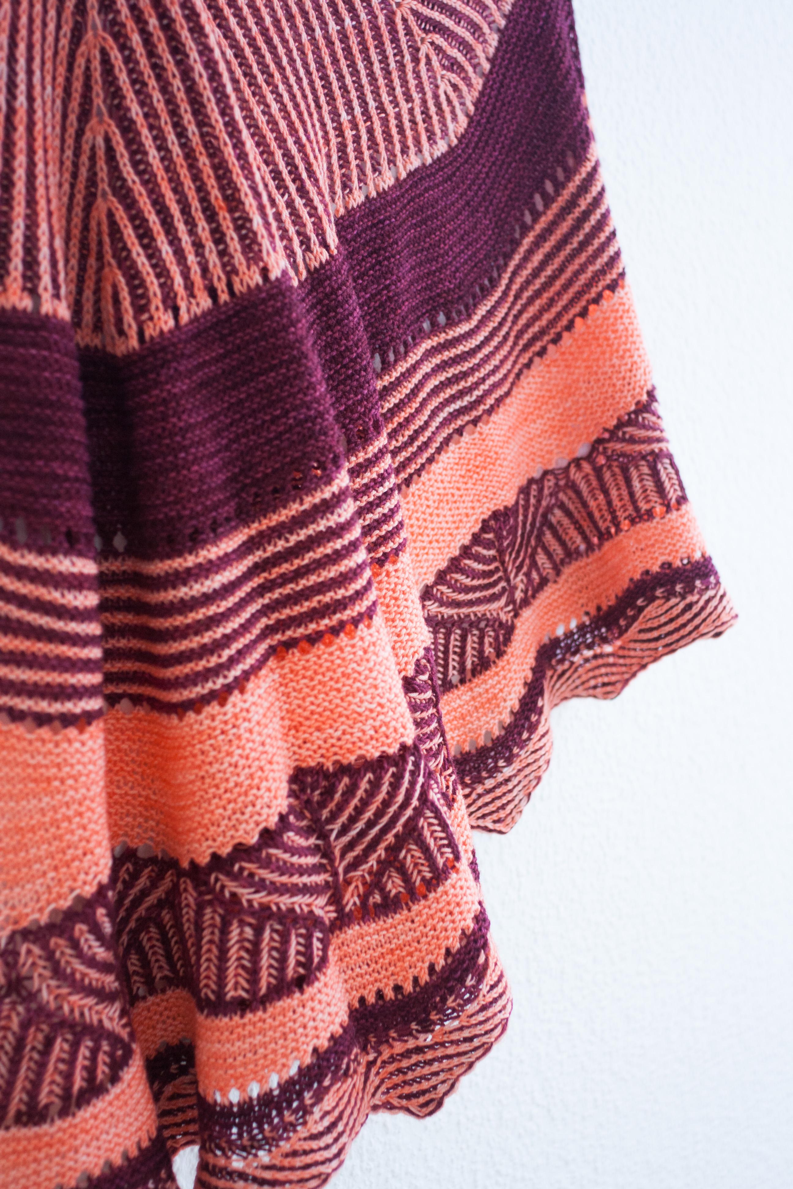 New pattern} Brioche for Teatime Shawl | Dans le nid du tisserin