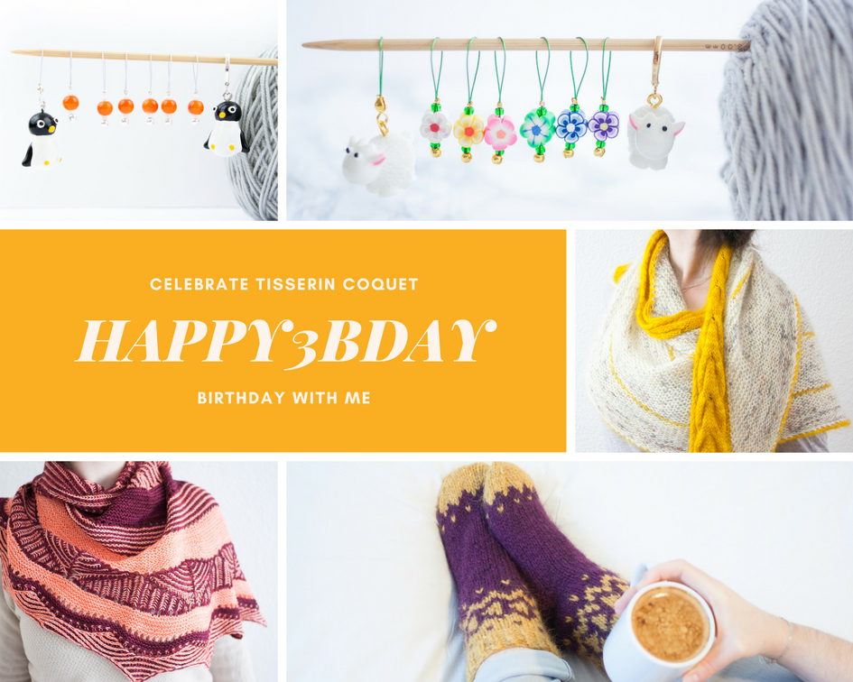 Celebrate Tisserin Coquet 3rd birthday with me and enjoy the sale!